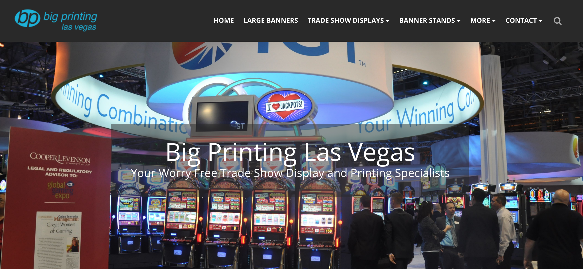 Big Printing Las Vegas Website Home Page