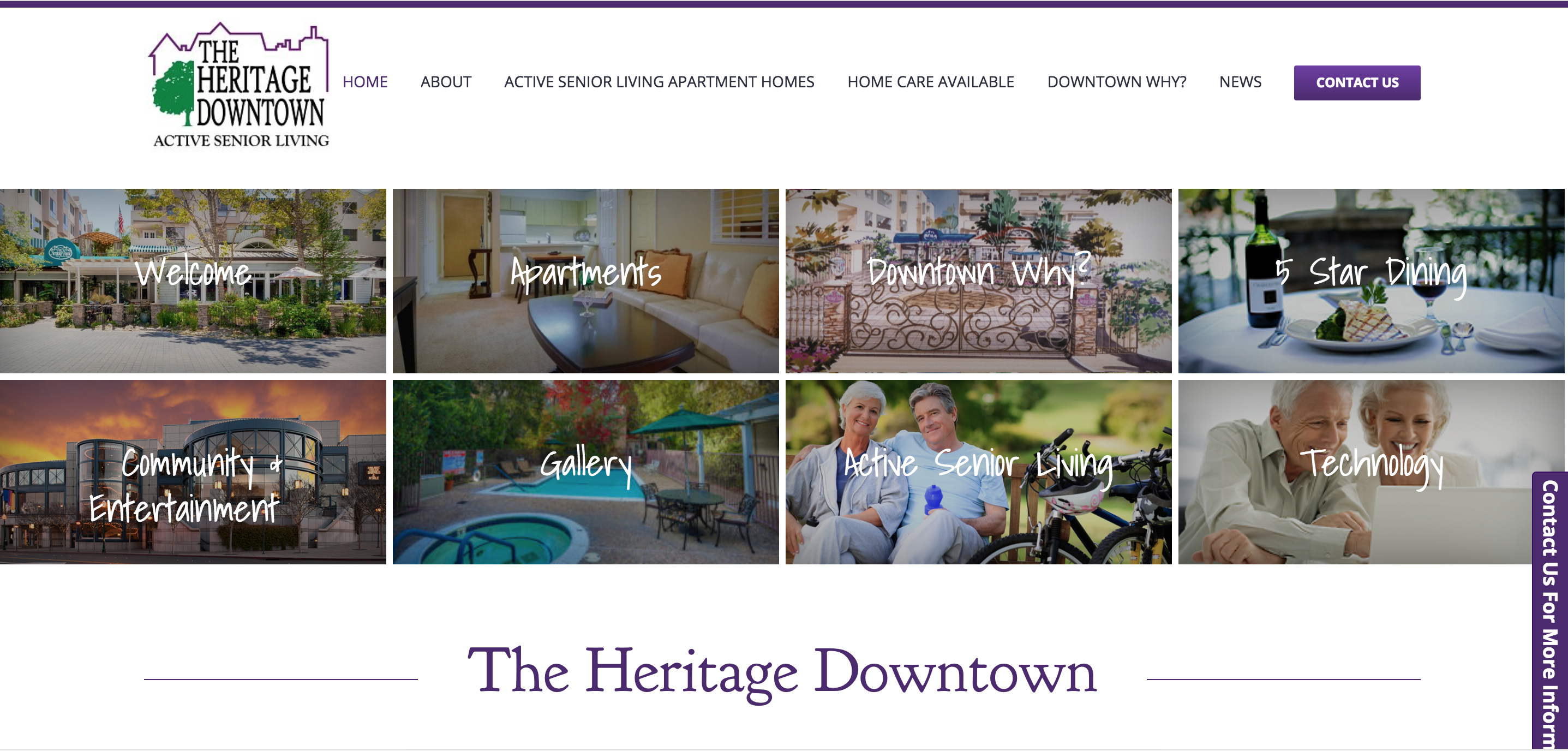 The Heritage Downtown Website Home Page