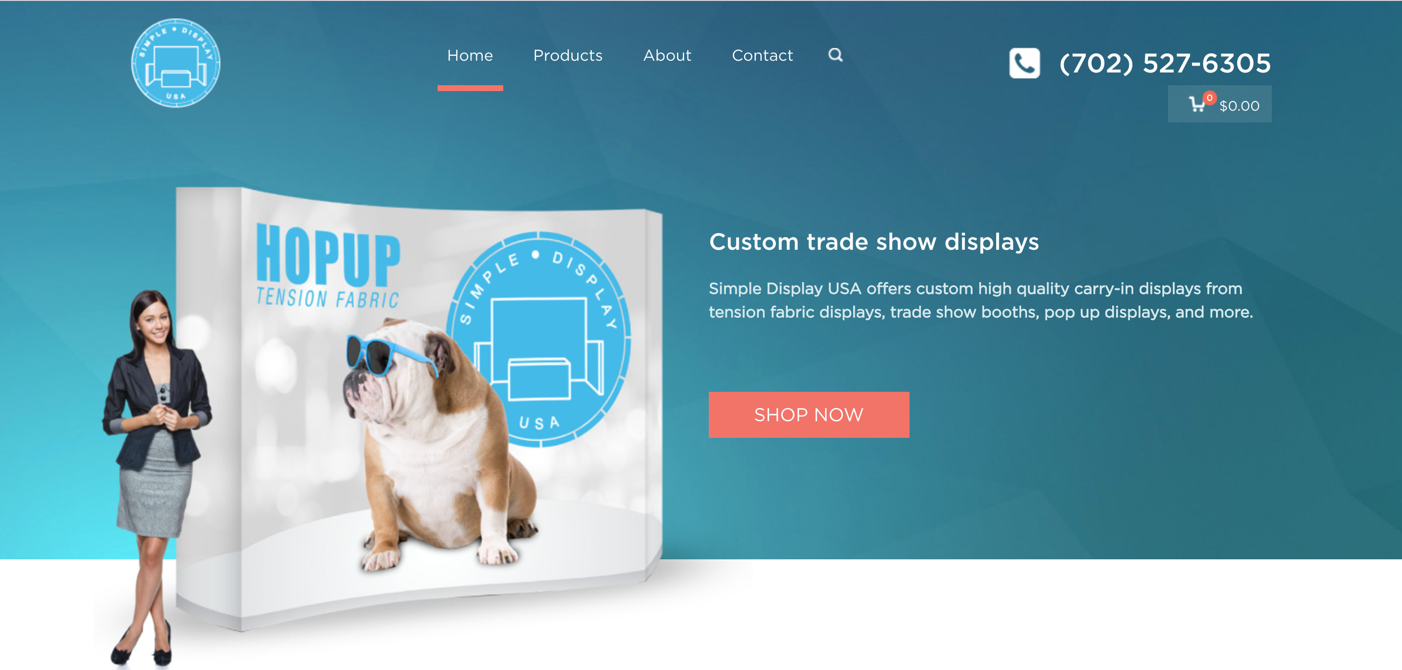 Simple Display USA Website Home Page