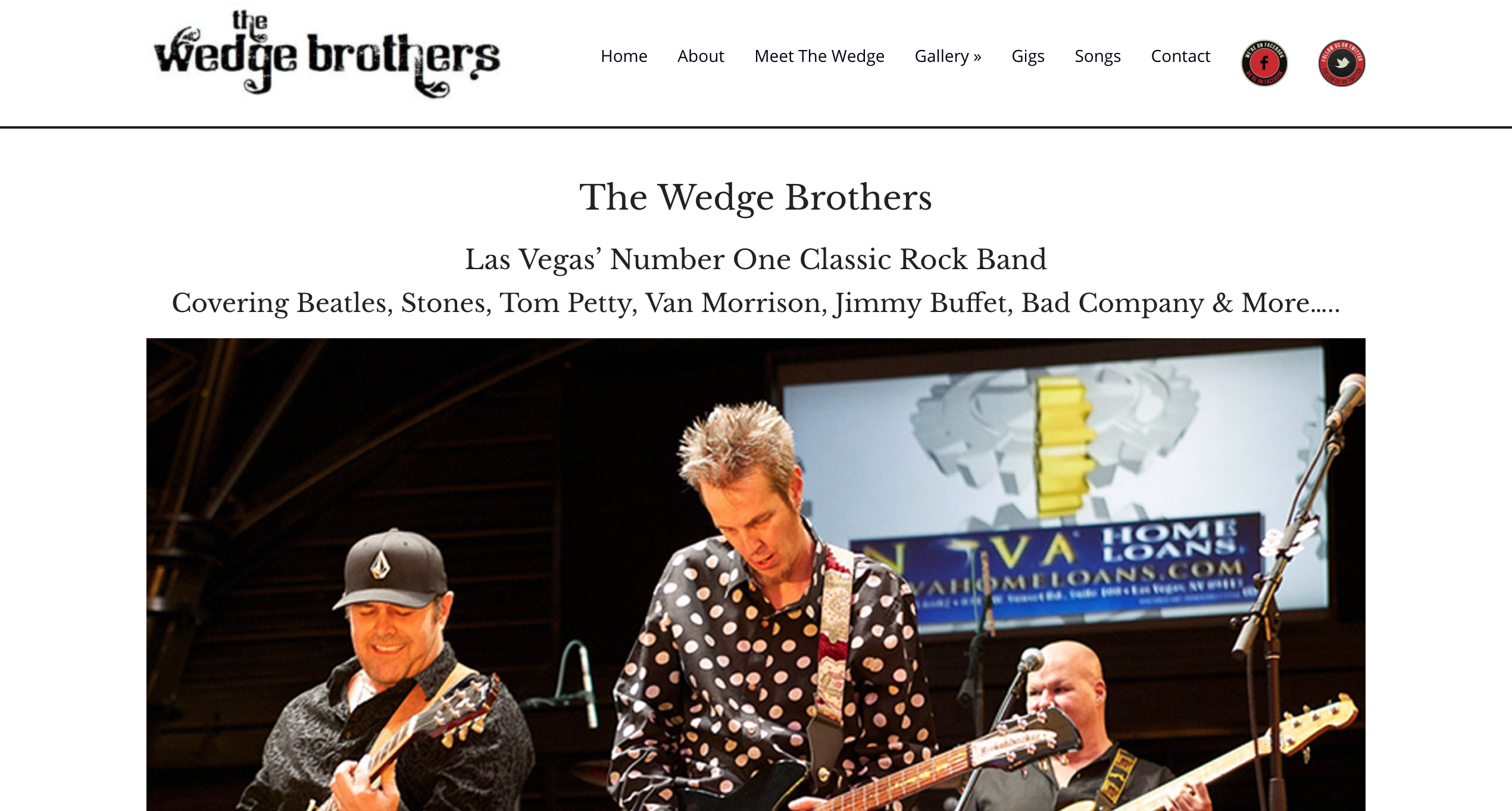 The Wedge Brothers Website Home Page
