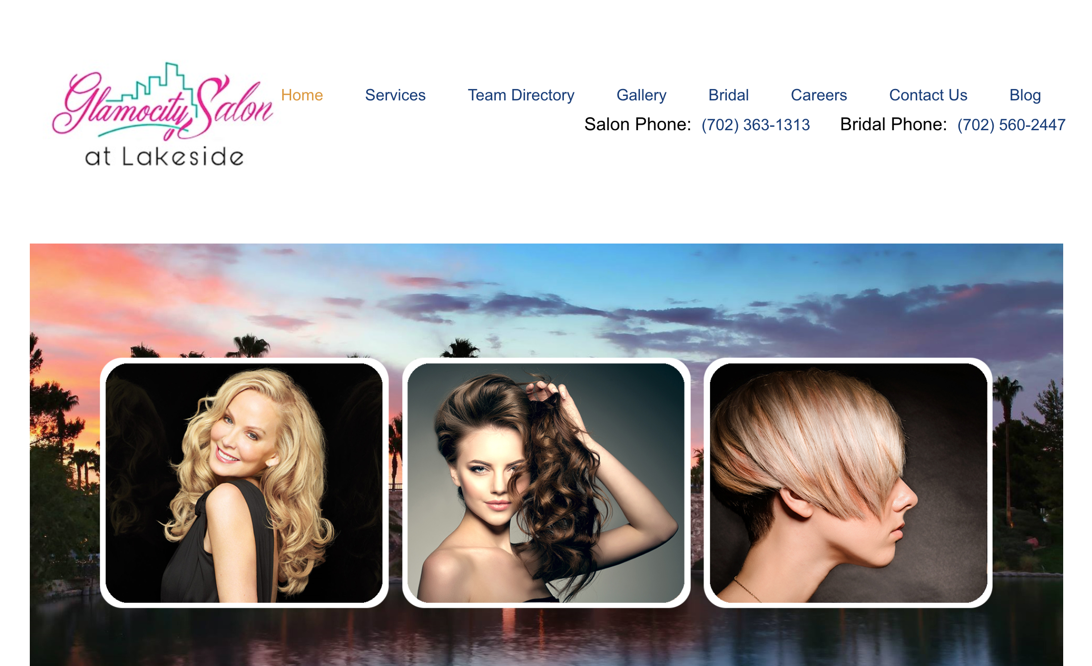 Glamocity Salon at Lakeside Website Home Page