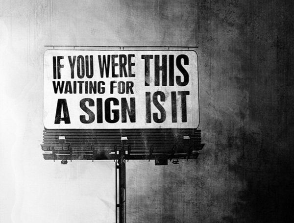 What Are You Waiting For Sign Image