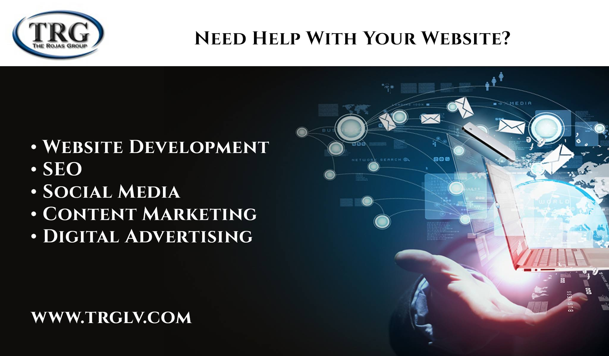 The Rojas Group TRGLV, Inc Social Media Website Development Services in Las Vegas