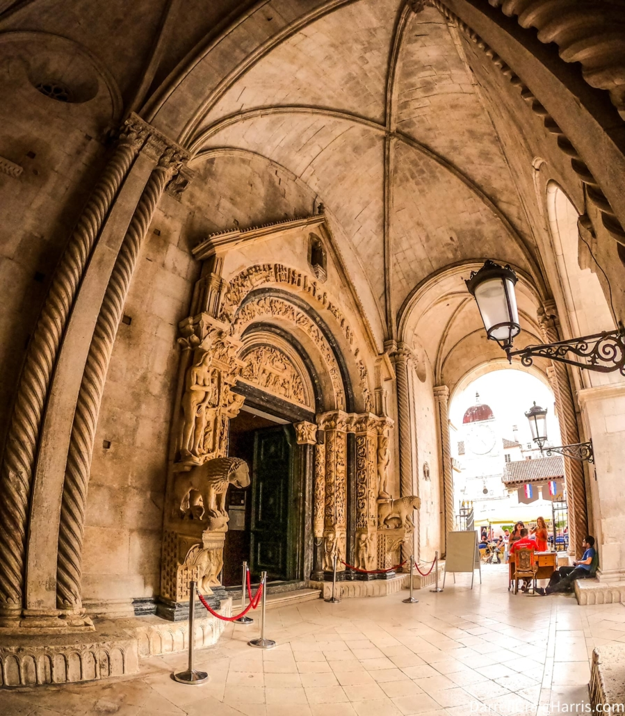 Outside cathedral in Croatia photo by The Rojas Group