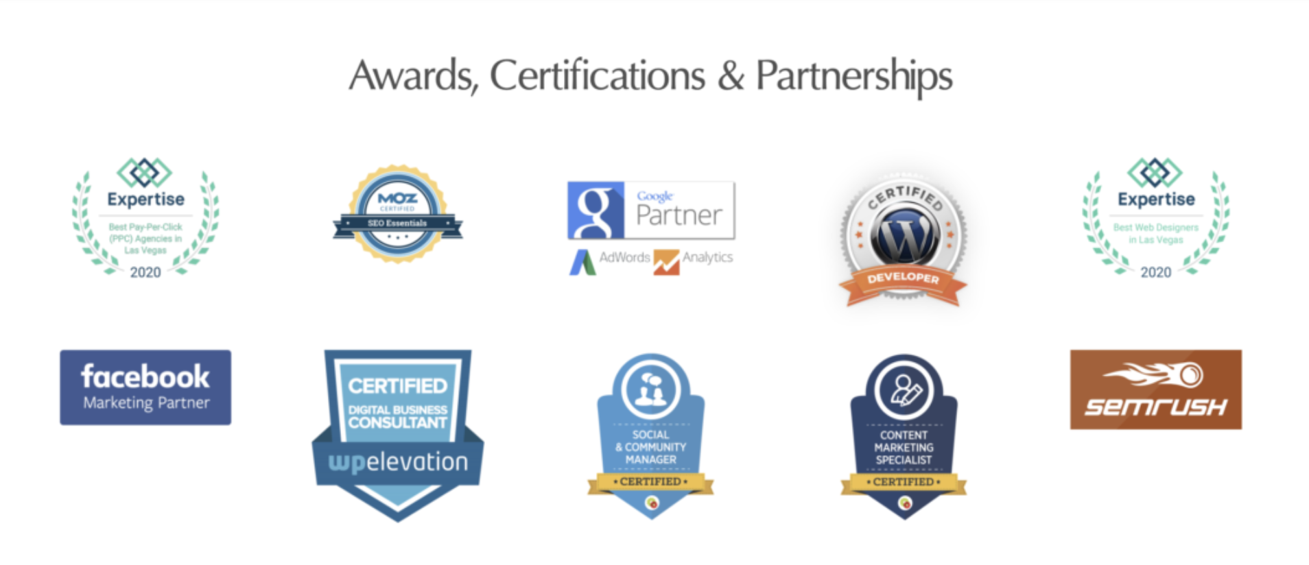 THE ROJAS GROUP AWARDS AND CERTIFICATIONS
