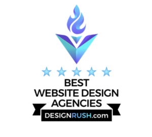 BEST WEB DESIGN AGENCY BY DESIGN RUSH AWARD BADGE FOR THE ROJAS GROUP - NEVADA