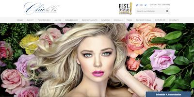 Chic la Vie Med Spa Website by The Rojas Group Las Vegas