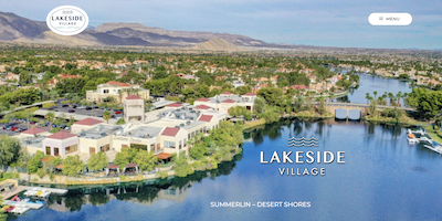 Lakeside Village Website by The Rojas Group