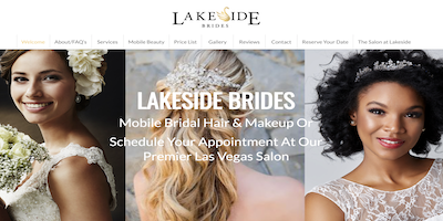 Lakeside Brides Website by The Rojas Group