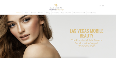 Las Vegas Mobile Beauty Website by The Rojas Group