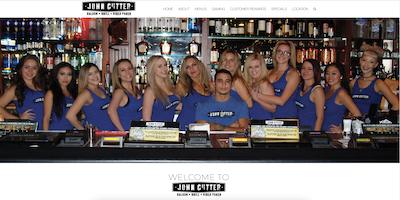 John Cutter Tavern Website by The Rojas Group
