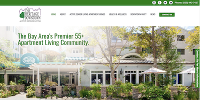 The Heritage Downtown Website by The Rojas Group