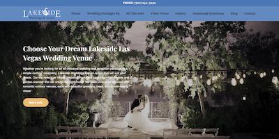 Lakeside Weddings Las Vegas Website by The Rojas Group