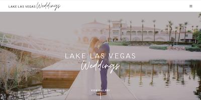Lake Las Vegas Wedding Website by The Rojas Group