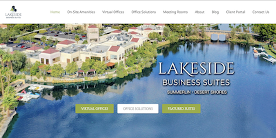 Lakeside Business Suites Website by The Rojas Group