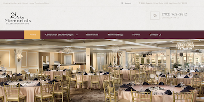 Lakeside Memorials Website by The Rojas Group