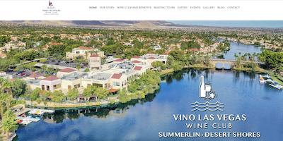 Vino Las Vegas Wine Club website by The Rojas Group