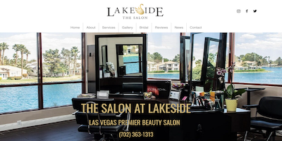 The Salon at Lakeside Website by The Rojas Group