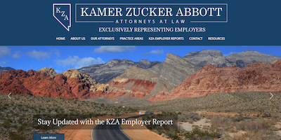 KZA Law Website by The Rojas Group