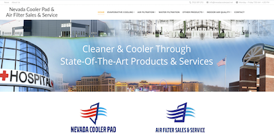 Nevada Cooler Pad Website by The Rojas Group
