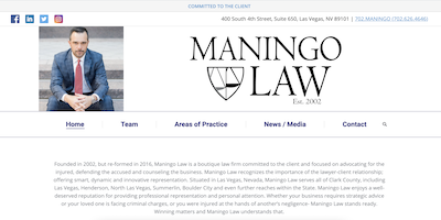 Maningo Law Website by The Rojas Group