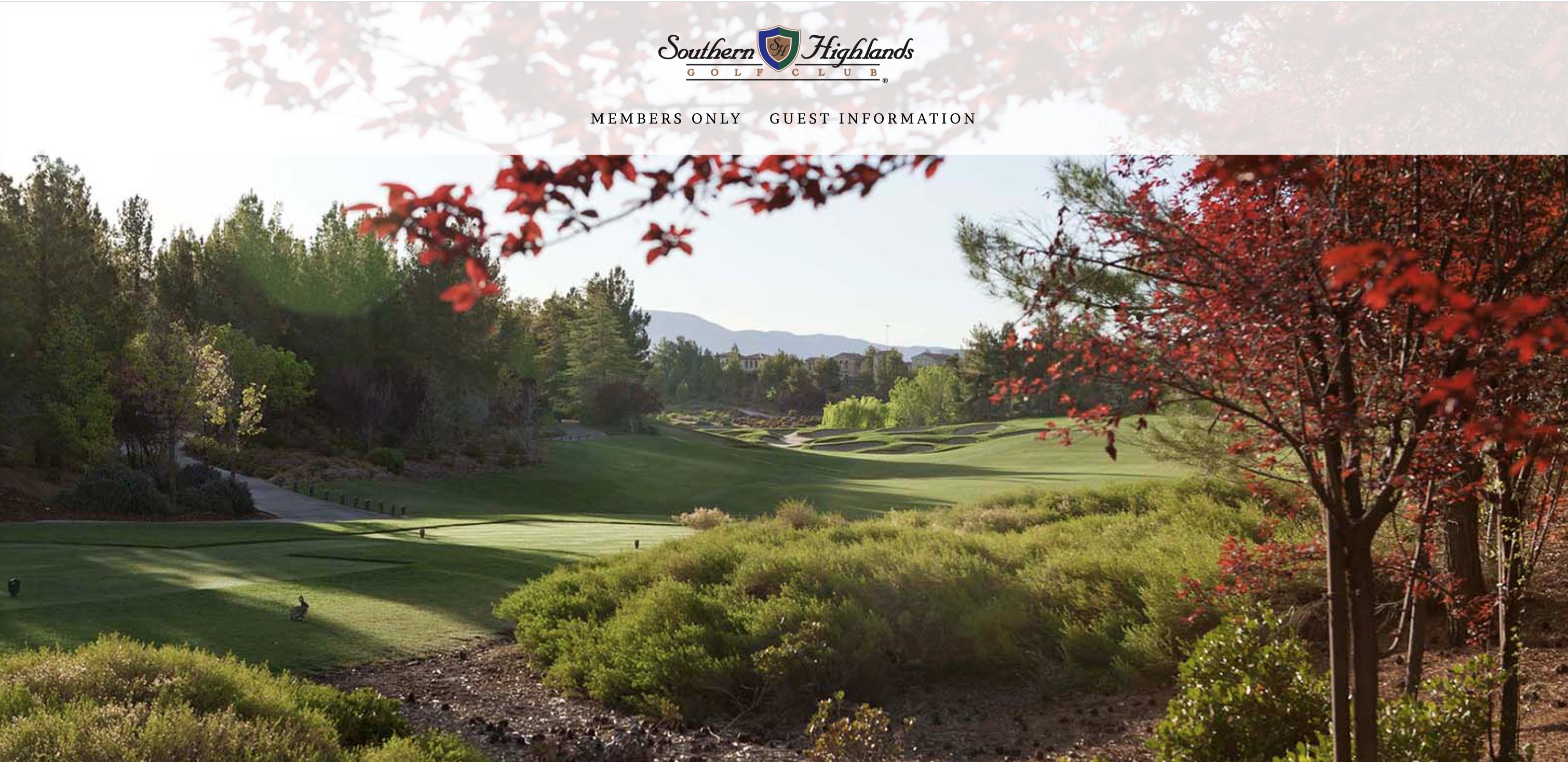 Southern Highlands Golf Club Las Vegas Website Homepage
